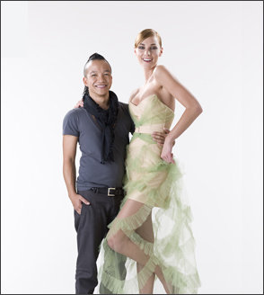 Sunny Fong and his model Tori