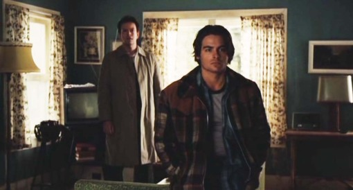 Hagar's Sons: Marvin Shipley (Dylan Baker) and John Shipley (Kevin Zegers) at their father's death
